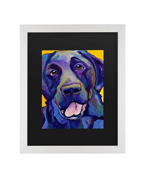 "Trademark Global Pat Saunders-White Buddy Matted Framed Art - 20"" x 25"""