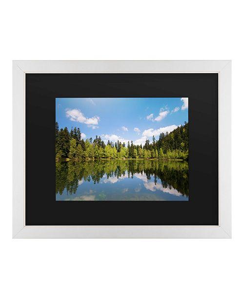 "Trademark Global Philippe Sainte-Laudy Lake Maix Matted Framed Art - 20"" x 25"""