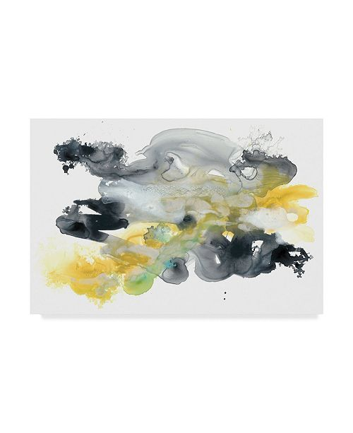 """Trademark Global June Erica Vess Lunar Veil IV Canvas Art - 37"""" x 49"""""""