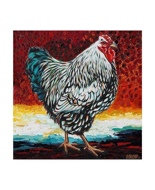 "Trademark Global Carolee Vitaletti Fancy Chicken I Canvas Art - 27"" x 33"""