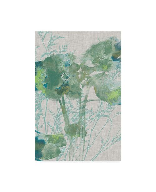 "Trademark Global Jennifer Goldberger Watercolor Flower Panel II Canvas Art - 37"" x 49"""