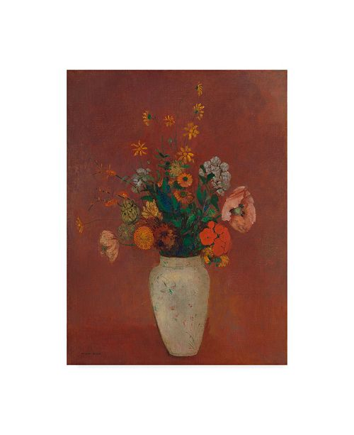 """Trademark Global Odilon Redon Bouquet in a Chinese Vase Canvas Art - 20"""" x 25"""""""