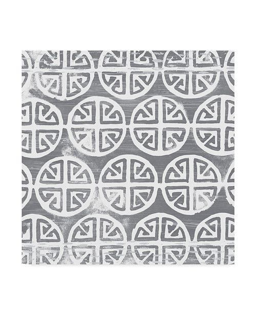 "Trademark Global June Erica Vess Monoprint Tile II Canvas Art - 27"" x 33"""