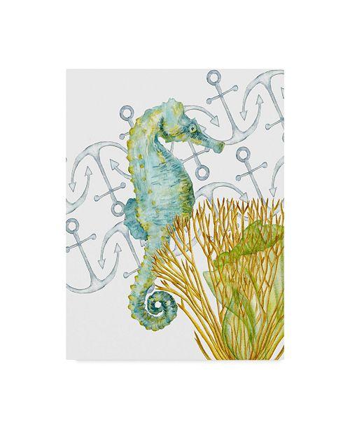 "Trademark Global Melissa Wang Undersea Creatures I Canvas Art - 37"" x 49"""