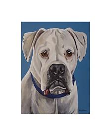"Hippie Hound Studios Boxer White Canvas Art - 37"" x 49"""