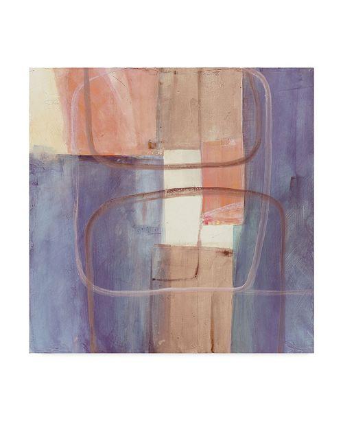 "Trademark Global Mike Schick Passage Ii Blush Purple Canvas Art - 15"" x 20"""