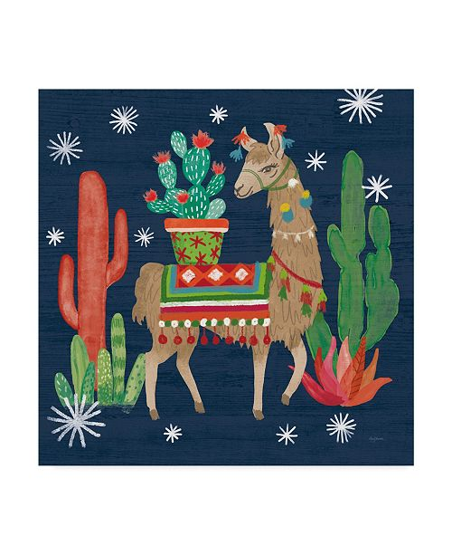 "Trademark Global Mary Urban Lovely Llamas III Christmas Canvas Art - 27"" x 33"""