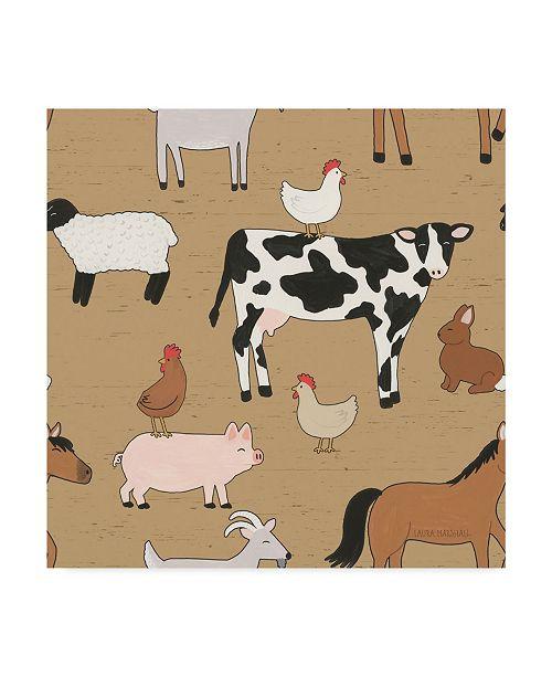 "Trademark Global Laura Marshall Country Roads Step 01C Canvas Art - 27"" x 33"""