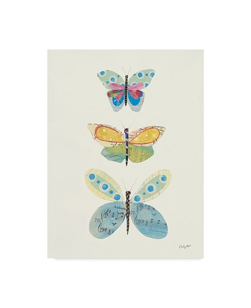 """Trademark Global Courtney Prahl Butterfly Charts IV Canvas Art - 37"""" x 49"""""""