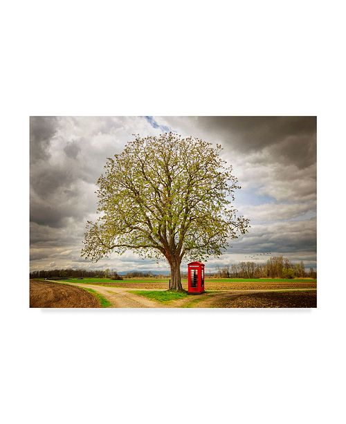 """Trademark Global Philippe Sainte-Laudy Never Alone Phone Booth Canvas Art - 20"""" x 25"""""""