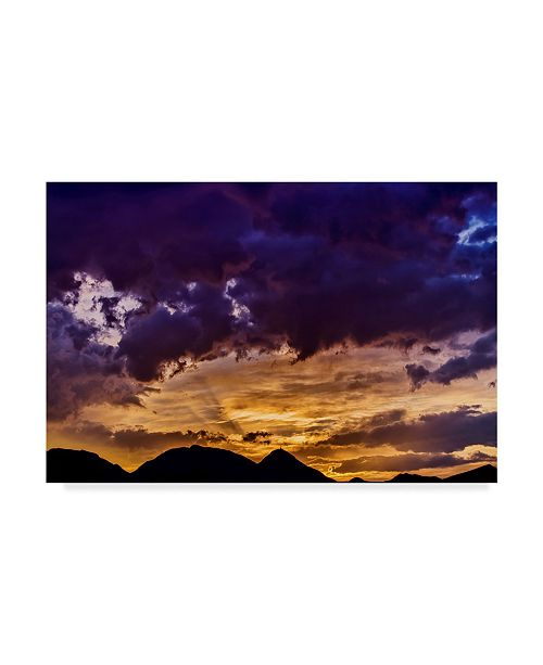 "Trademark Global Pixie Pics Sunrise Clouds Canvas Art - 37"" x 49"""