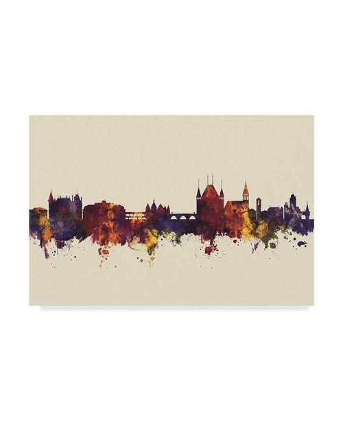 """Trademark Global Michael Tompsett Thun Switzerland Skyline III Canvas Art - 37"""" x 49"""""""