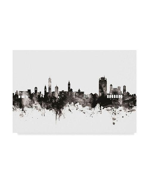 "Trademark Global Michael Tompsett Lugano Switzerland Skyline Black White Canvas Art - 20"" x 25"""