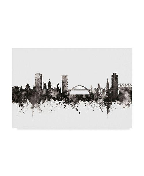 """Trademark Global Michael Tompsett Sunderland England Skyline Black White Canvas Art - 20"""" x 25"""""""
