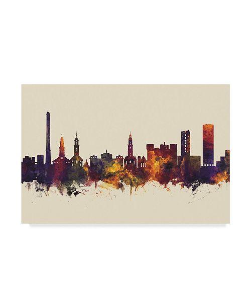 "Trademark Global Michael Tompsett Erlangen Germany Skyline III Canvas Art - 37"" x 49"""