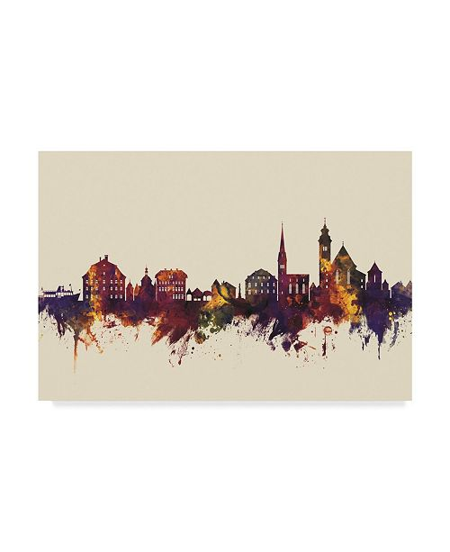 "Trademark Global Michael Tompsett Hallstatt Austria Skyline III Canvas Art - 37"" x 49"""