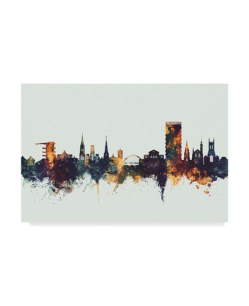 """Trademark Global Michael Tompsett Cheltenham England Skyline IV Canvas Art - 37"""" x 49"""""""