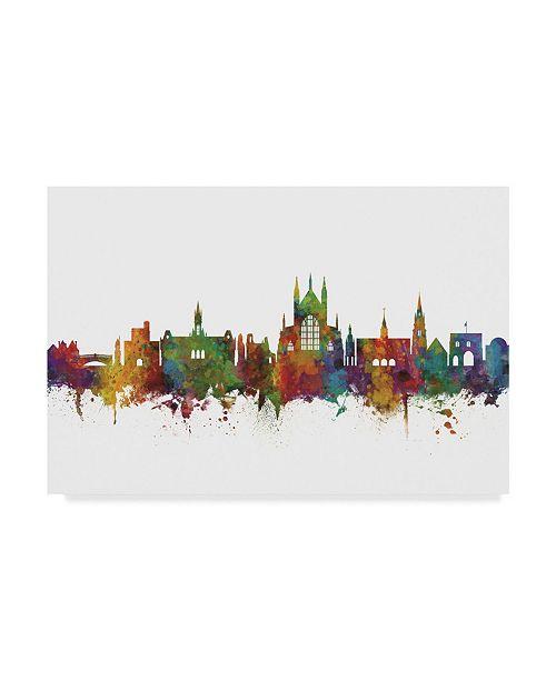 "Trademark Global Michael Tompsett Winchester England Skyline II Canvas Art - 20"" x 25"""