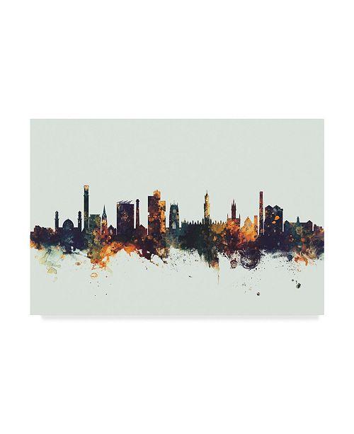 "Trademark Global Michael Tompsett Bradford England Skyline IV Canvas Art - 37"" x 49"""