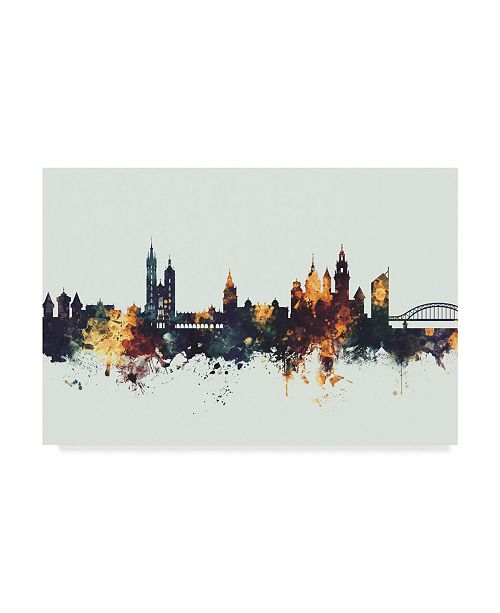 "Trademark Global Michael Tompsett Krakow Poland Skyline IV Canvas Art - 37"" x 49"""