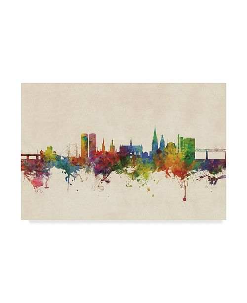 "Trademark Global Michael Tompsett Dundee Scotland Skyline Canvas Art - 37"" x 49"""