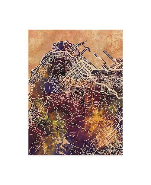 """Trademark Global Michael Tompsett Cape Town South Africa City Street Map II Canvas Art - 20"""" x 25"""""""