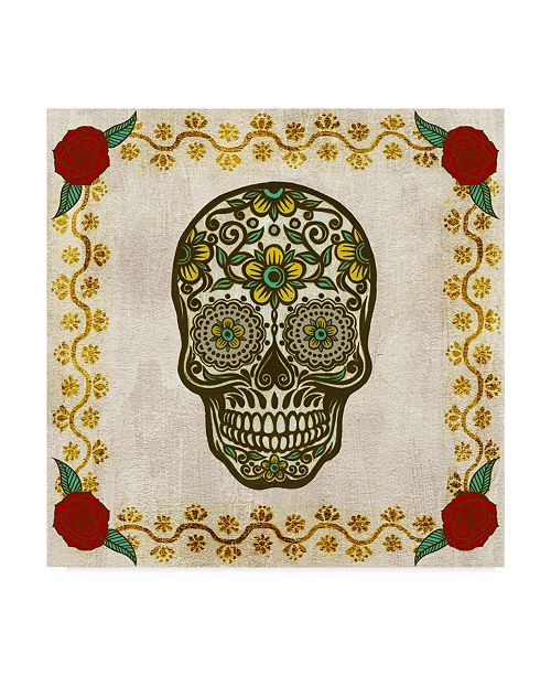 "Trademark Global Melissa Wang Ornate Day of the Dead II Canvas Art - 20"" x 25"""