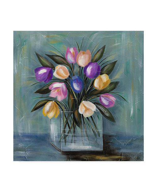 "Trademark Global Jade Reynolds Mixed Pastel Bouquet II Canvas Art - 15"" x 20"""