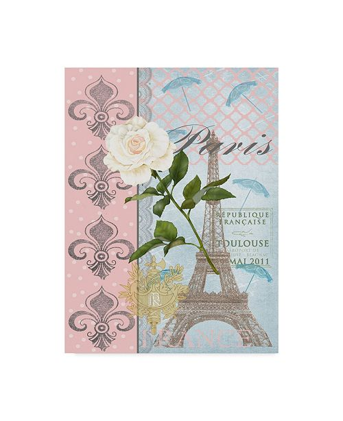 "Trademark Global Jade Reynolds La Vie En Rose II Canvas Art - 15"" x 20"""