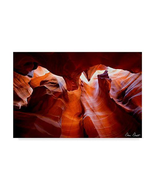 "Trademark Global David Drost Sun Shining Through Canyon VII Canvas Art - 15"" x 20"""