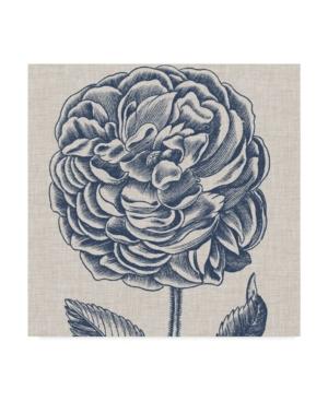 "Trademark Global Vision Studio Indigo Floral On Linen V Canvas Art - 15"" X 20"" In Multi"