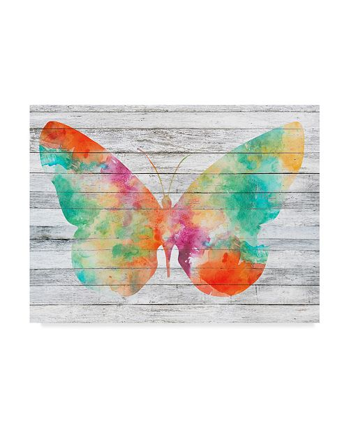 "Trademark Global Jennifer Goldberger Wings on Wood I Canvas Art - 15"" x 20"""