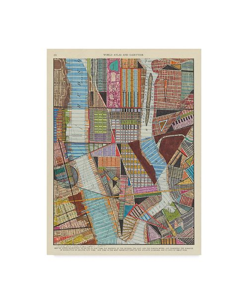 "Trademark Global Nikki Galapon Modern Map of New York II Canvas Art - 20"" x 25"""