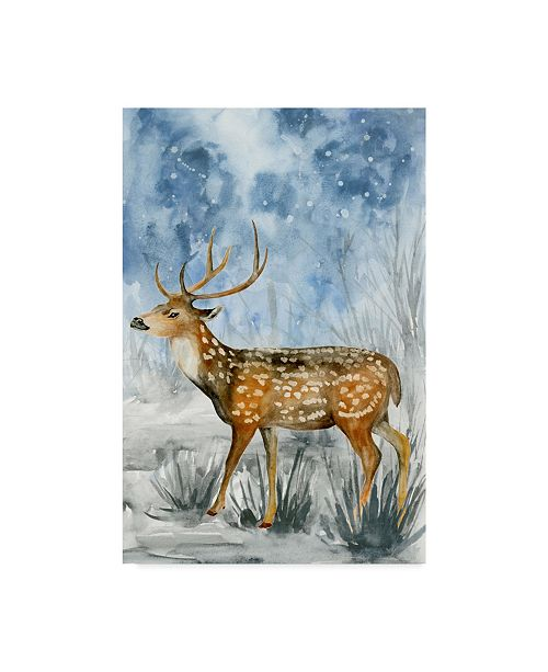 "Trademark Global Melissa Wang Snowy Night II Canvas Art - 15"" x 20"""