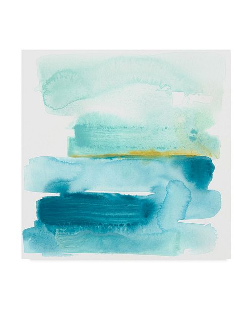 "Trademark Global June Erica Vess Liquid Shoreline I Canvas Art - 15"" x 20"""