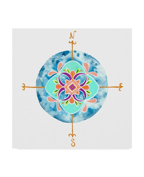 "Trademark Global Rebekah Ewer Blue Mandala II Canvas Art - 20"" x 25"""