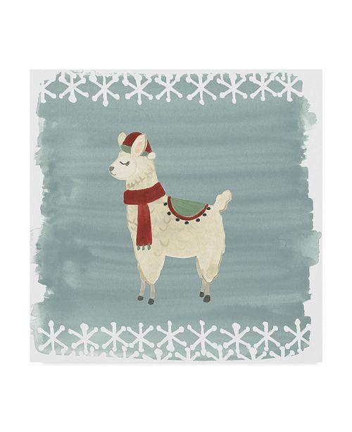 "Trademark Global June Erica Vess Winter Wonder Llama II Canvas Art - 15"" x 20"""