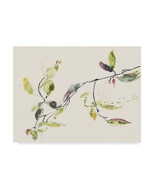 "Trademark Global Jennifer Goldberger Leaf Branch I Canvas Art - 20"" x 25"""
