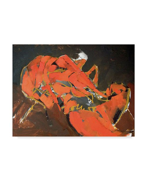 "Trademark Global Erin Mcgee Ferrell Abstract Lobster I Canvas Art - 20"" x 25"""