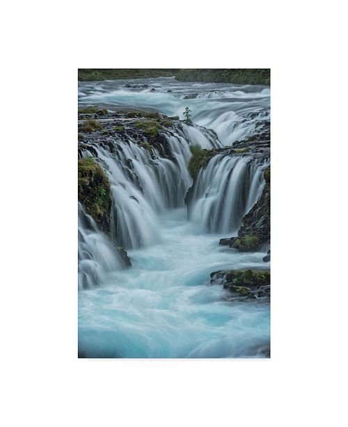 "Trademark Global Danny Head Blue Water Waterfall Canvas Art - 20"" x 25"""