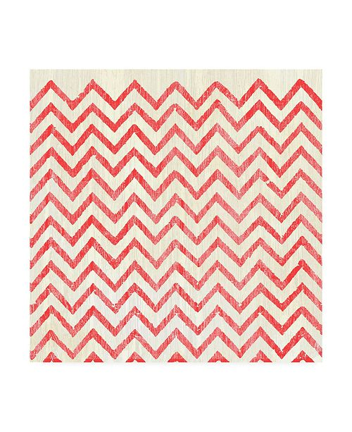 """Trademark Global June Erica Vess Weathered Patterns in Red IV Canvas Art - 27"""" x 33"""""""