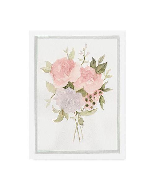 "Trademark Global Emma Scarvey Soft Bouquet II Canvas Art - 20"" x 25"""