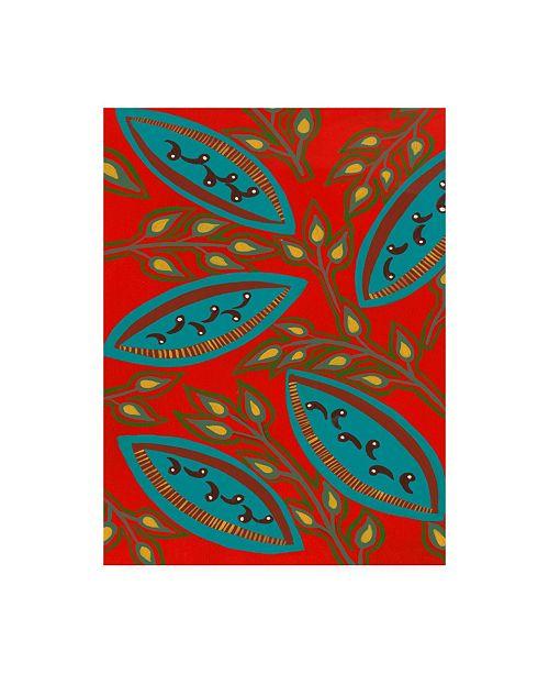 "Trademark Global Regina Moore Stylized Motif III Canvas Art - 37"" x 49"""