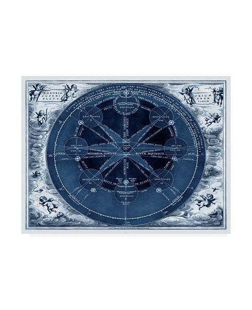 "Trademark Global Vision Studio Indigo Planetary Chart Canvas Art - 37"" x 49"""