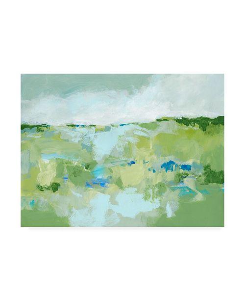 "Trademark Global Christina Long Spring Green I Canvas Art - 37"" x 49"""