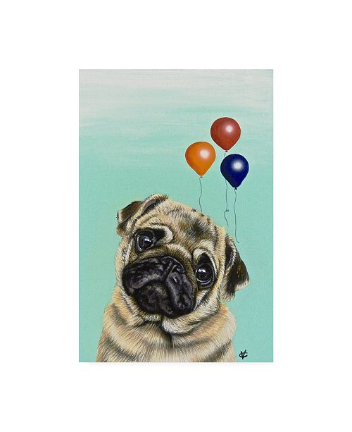 "Trademark Global Victoria Coleman Party Dog IV Canvas Art - 15"" x 20"""