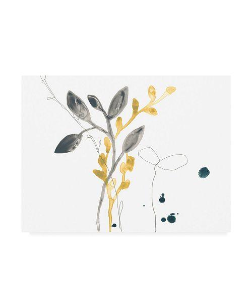 """Trademark Global June Erica Vess Navy Garden Inspiration III Canvas Art - 37"""" x 49"""""""