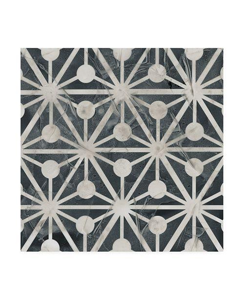 "Trademark Global June Erica Vess Neutral Tile Collection IX Canvas Art - 27"" x 33"""