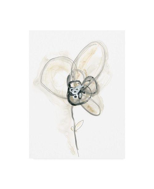 "Trademark Global June Erica Vess Monochrome Floral Study I Canvas Art - 20"" x 25"""