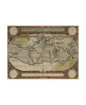 "Vision Studio Antique World Map Canvas Art - 37"" x 49"""
